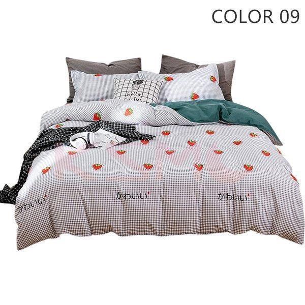 布団カバー セット 寝具セット シーツカバー 枕カバー おしゃれ 北欧風 シングル セミダブル ダブル クイーン ベッドカバー 可愛い 防臭 防ダニ 柔らかい|ksmc-shop|10