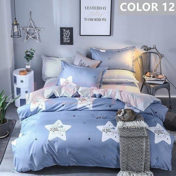布団カバー セット シングル セミダブル ダブル クイーン 寝具セット シーツカバー 枕カバー おしゃれ 北欧風 洋式和式兼用 かわいい 防ダニ 洗える 柔らかい|ksmc-shop|12