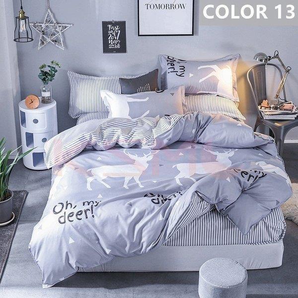 布団カバー セット シングル セミダブル ダブル クイーン 寝具セット シーツカバー 枕カバー おしゃれ 北欧風 洋式和式兼用 かわいい 防ダニ 洗える 柔らかい|ksmc-shop|13