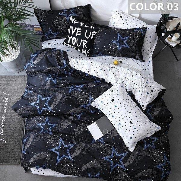 布団カバー セット シングル セミダブル ダブル クイーン 寝具セット シーツカバー 枕カバー おしゃれ 北欧風 洋式和式兼用 かわいい 防ダニ 洗える 柔らかい|ksmc-shop|04