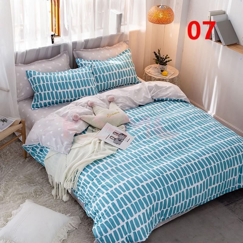 布団カバー セット シングル セミダブル ダブル クイーン 寝具セット シーツカバー 枕カバー おしゃれ 北欧風 洋式和式兼用 かわいい 防ダニ 洗える 柔らかい|ksmc-shop|07