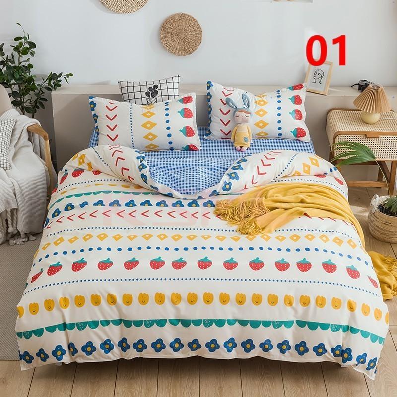 布団カバー 3点セット シングル 150x210cm シーツカバー 寝具セット 枕カバー 掛けカバー ベッド用 洋式和式兼用 洗える 北欧風 柔らかい 防ダニ 抗菌防臭|ksmc-shop|02