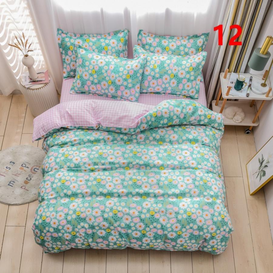 布団カバー 3点セット シングル 150x210cm シーツカバー 寝具セット 枕カバー 掛けカバー ベッド用 洋式和式兼用 洗える 北欧風 柔らかい 防ダニ 抗菌防臭|ksmc-shop|12
