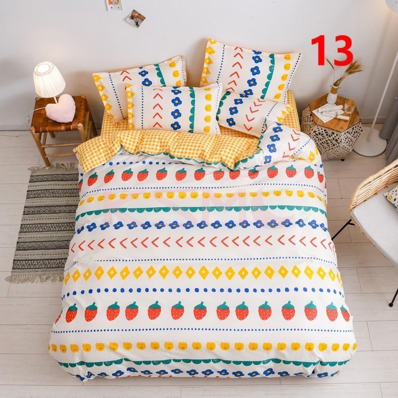 布団カバー 3点セット シングル 150x210cm シーツカバー 寝具セット 枕カバー 掛けカバー ベッド用 洋式和式兼用 洗える 北欧風 柔らかい 防ダニ 抗菌防臭|ksmc-shop|13
