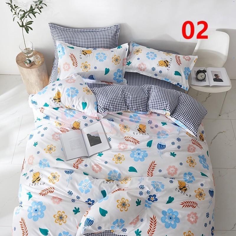 布団カバー 3点セット シングル 150x210cm シーツカバー 寝具セット 枕カバー 掛けカバー ベッド用 洋式和式兼用 洗える 北欧風 柔らかい 防ダニ 抗菌防臭|ksmc-shop|03