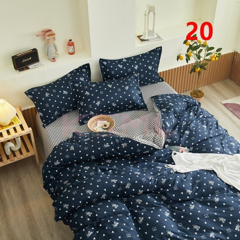 布団カバー 3点セット シングル 150x210cm シーツカバー 寝具セット 枕カバー 掛けカバー ベッド用 洋式和式兼用 洗える 北欧風 柔らかい 防ダニ 抗菌防臭|ksmc-shop|20