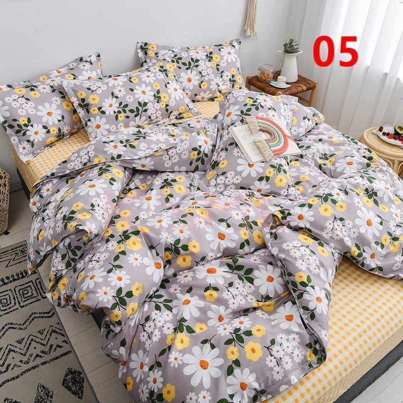 布団カバー 3点セット シングル 150x210cm シーツカバー 寝具セット 枕カバー 掛けカバー ベッド用 洋式和式兼用 洗える 北欧風 柔らかい 防ダニ 抗菌防臭|ksmc-shop|06
