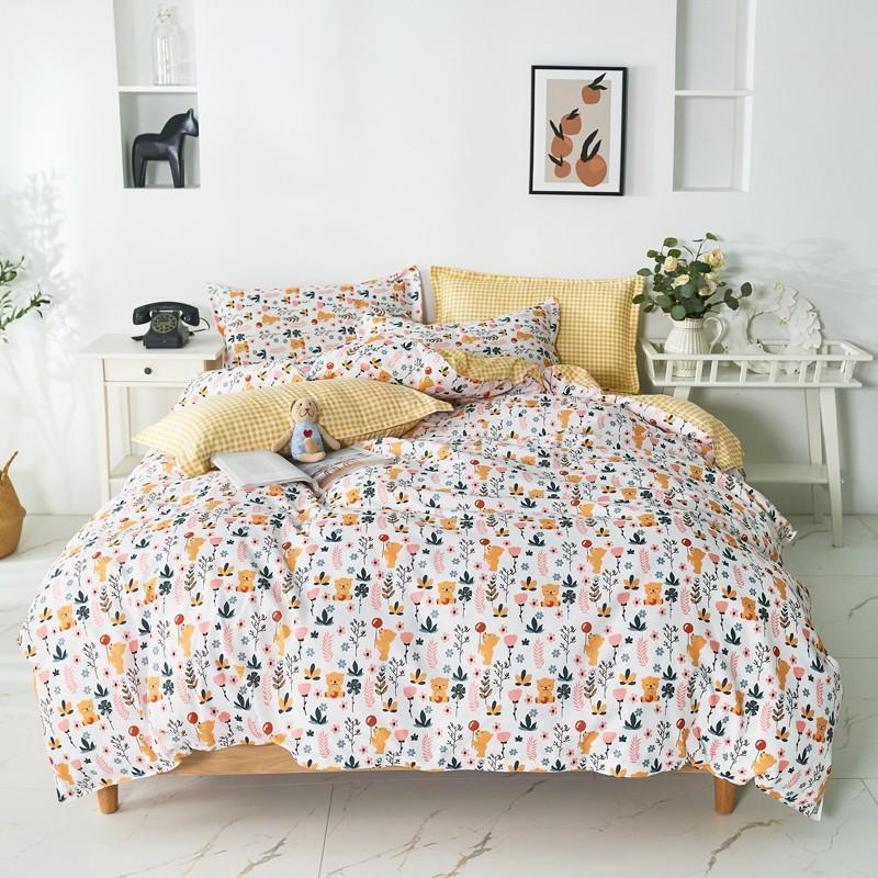 布団カバー 3点セット 寝具セット 枕カバー 掛け布団カバー 寝具カバー 洋式和式兼用 ベッド用 シングル 防臭 防ダニ 抗菌 洗える 速乾 かわいい|ksmc-shop|14