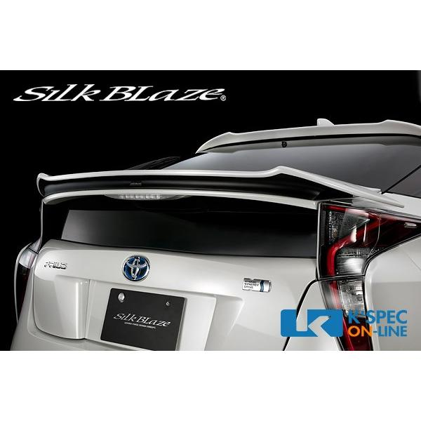 トヨタ【50系プリウス】SilkBlaze リアウイング [塗分け塗装]_[TSR50PR-RW-2c]