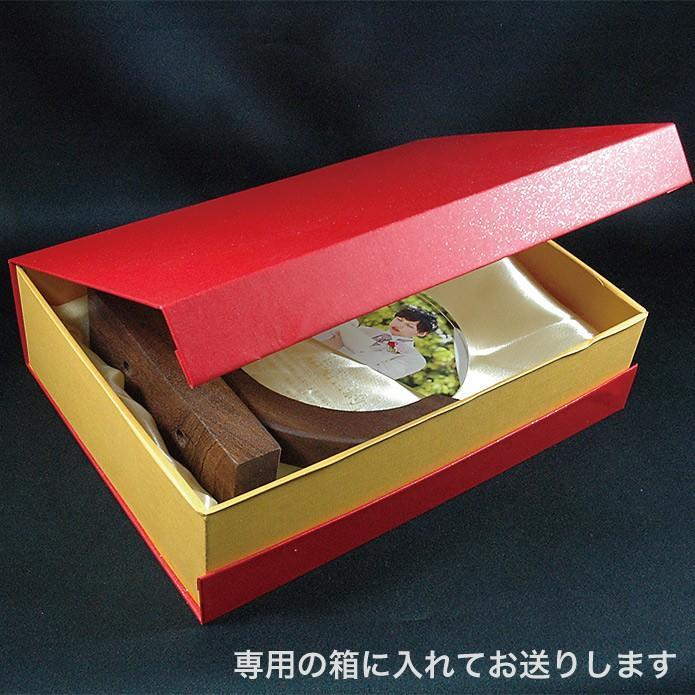 結婚 誓約書 人前式 木製台座クリスタル 記念 ブライダル ウエディング 親からプレゼント レーザー 写真 kss-s 06