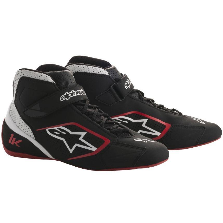 優れた品質 ☆【Alpinestars】Tech 1-Kカートブーツ ブラック/ホワイト/レッド UK 6 / Eur 39.5, 靴のニシムラ c28cdef0