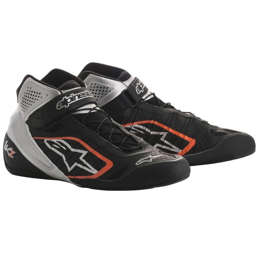 【格安saleスタート】 ☆【Alpinestars】Tech 1-KZ Kart Boots ブラック/シルバー/フルロオレンジ UK 8 / Eur 42, 夏物専門 夏のきもの屋さん 333da7a5