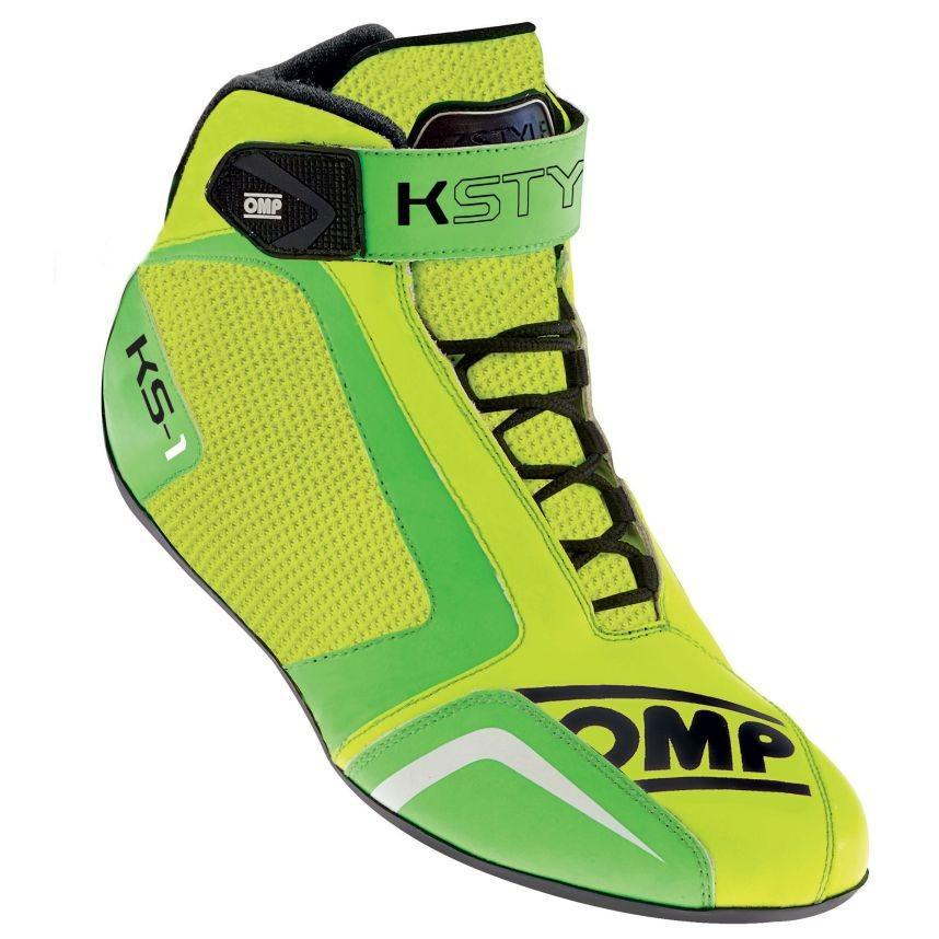 ☆【OMP】KS-1カート ブーツ  Fluro 黄 / Fluro 緑 UK 8 / Eur 42