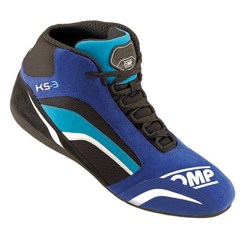 ☆【OMP】KS-3カート ブーツ  ブルー/ブラック/ライトブルー UK 12 / Eur 47