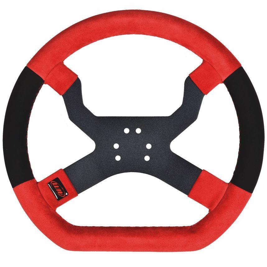 ☆【AIM Motorsport】MyChron5カートステアリングホイール 6 赤、黒