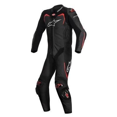 ☆【Alpinestars】Alpinestars GP Pro 1 Piece Leather Motorcycle Suit - Tech Air Bag Compatible Black / Red | UK 42 / Eur 52