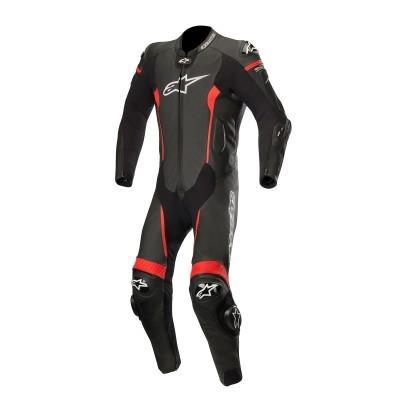☆【Alpinestars】Alpinestars Missile 1 Piece Leather Motorcycle Suit - Tech Air Bag Compatible Black / Red | UK 36 / Eur 46