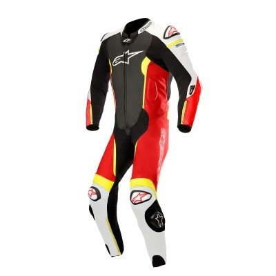 最適な価格 ☆ |【Alpinestars】 56 Missile 1 Piece Leather Motorcycle Red Suit - Tech Air Bag Compatible Black/ White/ Red Fluro/ Yellow Fluro | UK 46/ Eur 56, 電材BlueWood:631dc1c8 --- airmodconsu.dominiotemporario.com