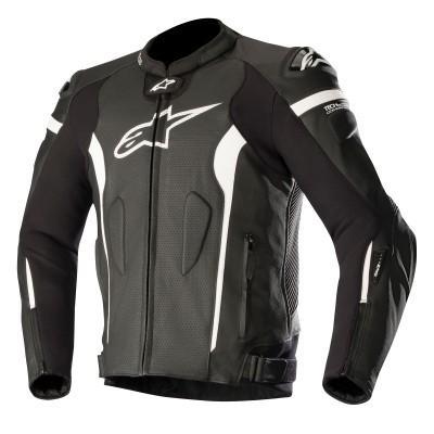 『4年保証』 ☆【Alpinestars】Alpinestars Missile Leather Motorcycle Jacket - Tech Air Compatible Black / White | UK 48 / Eur 58, ひぎりやき 953345d3