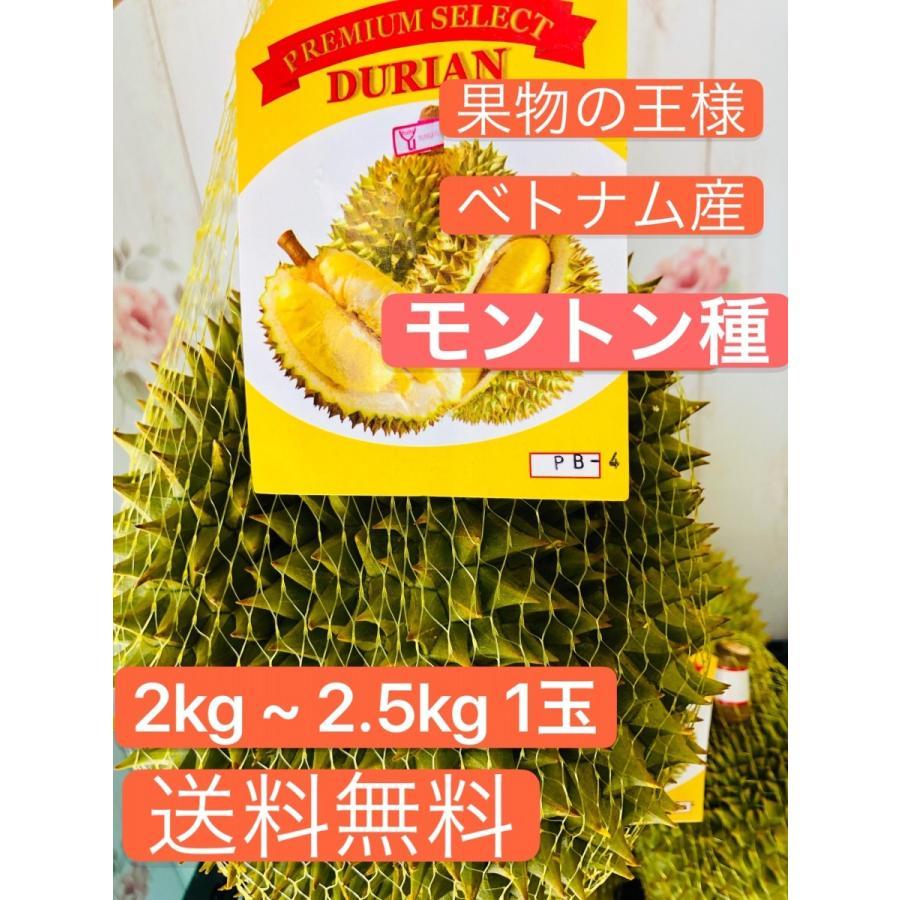 ドリアン ベトナム産 モントン種 2kg ~ 2.5kg 1玉 kukuhaha