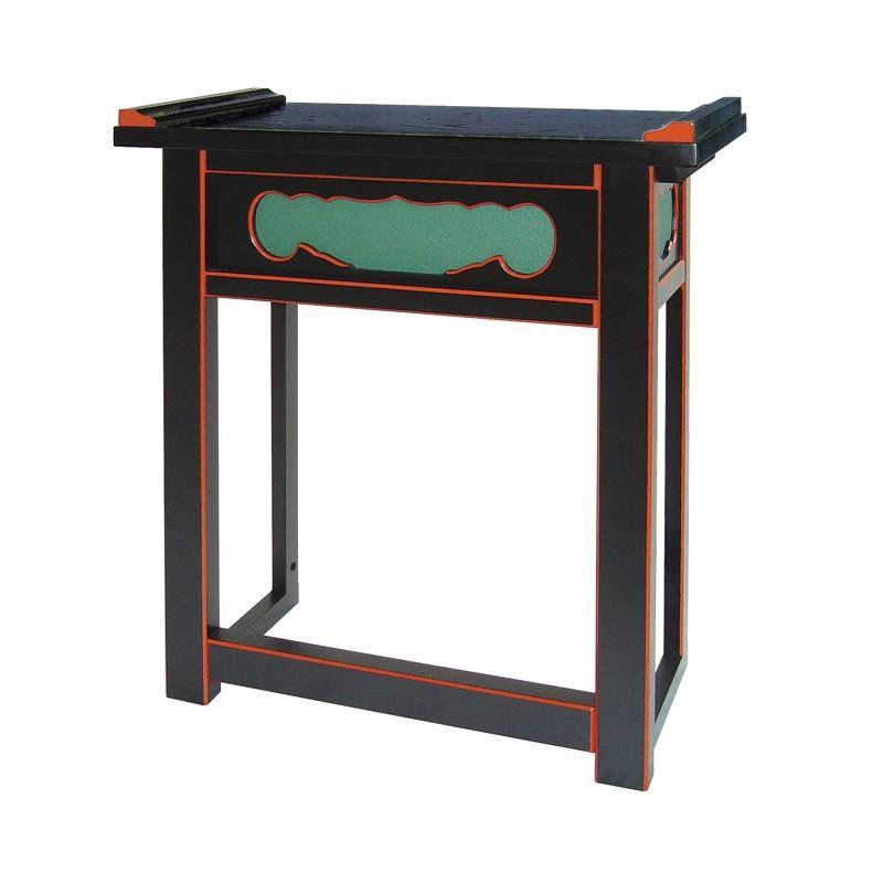 内陣用背高経机 黒塗面朱 折畳式 日本製 1140-2000 仏壇 机 仏具 経机 テーブル