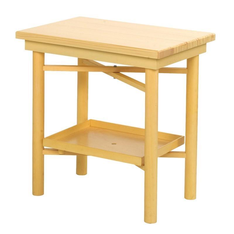 折畳式組立机 置台付 2尺 白木 日本製 7434-2000