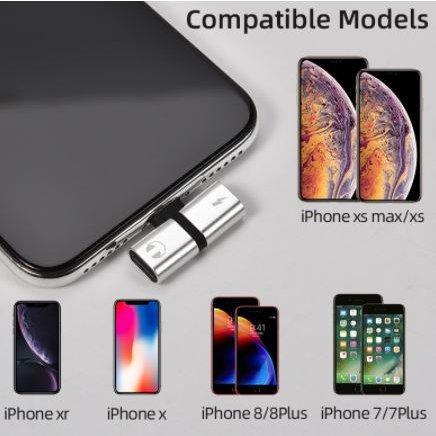 アイフォン iPhone イヤホンジャック 充電 変換アダプタ 音楽 通話 同時 二股 レッド|kumagayashop|02