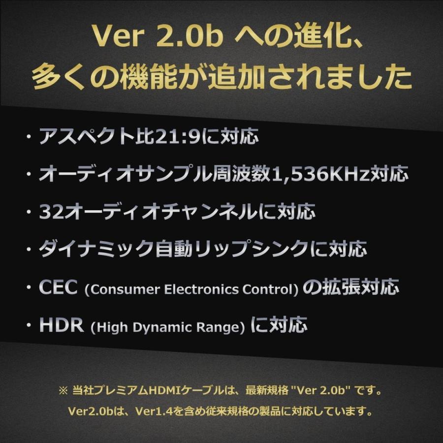 Hanwha スリム 4.2mm HDMIケーブル 5m Ver2.0b8K4K3Dイーサネットオーディオリターン|kumagayashop|05