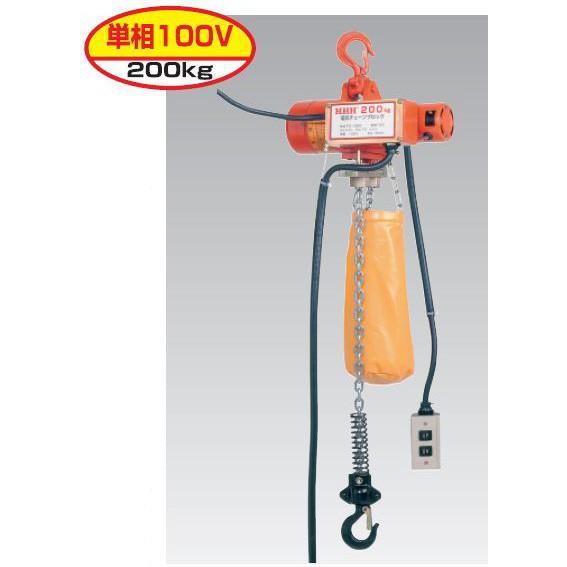 スリーエッチ(H.H.H.)型式 FE200 電気チェーンブロック 揚程3m 定格荷重200kg ●代引(着払い)不可商品です