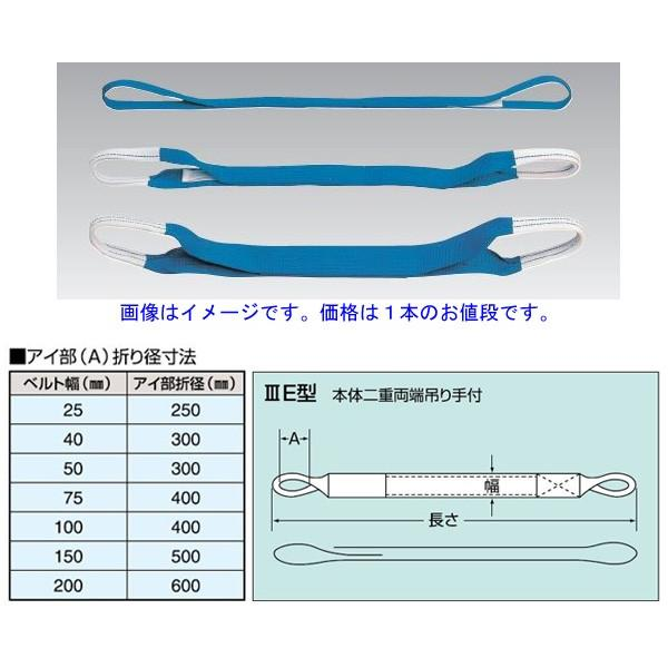 スリーエッチ(H.H.H.)ベルトスリングIIIE型 P200mm×7.5m ●代引(着払い不可)商品です。