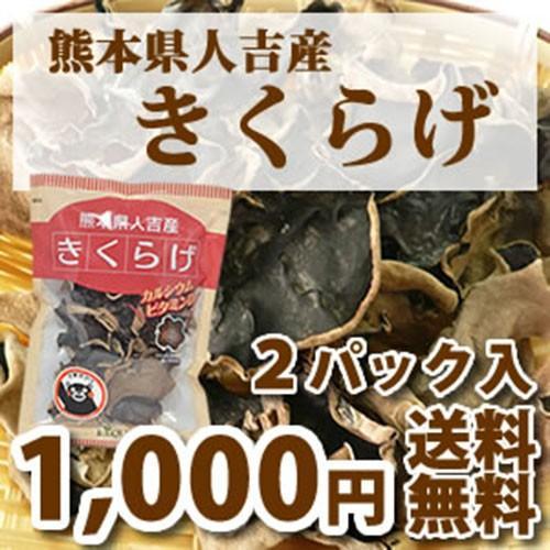 希少な国産 熊本県人吉産 乾きくらげ SALENEW大人気 送料無料 ポイント消化 1袋20g 2 x 大規模セール キクラゲ