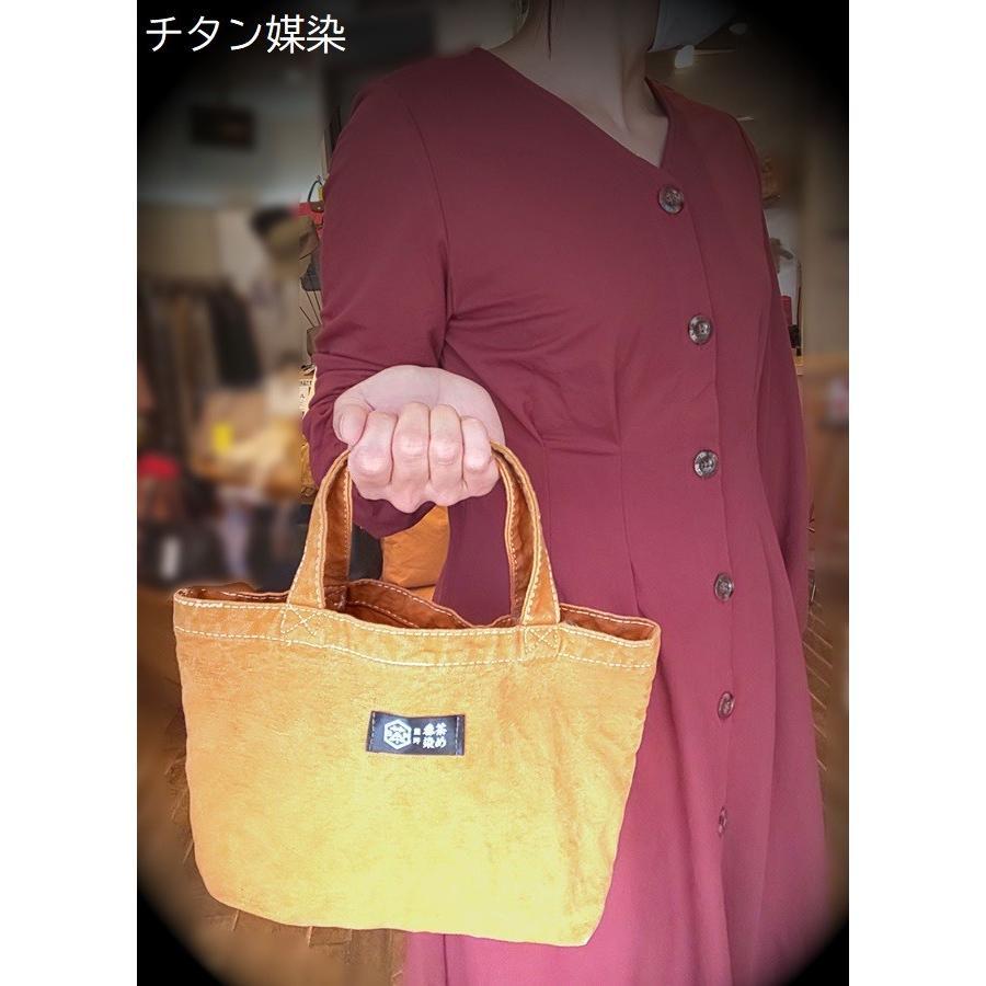 紀州 熊野番茶染め キャンバスミニトート|kumano-t|02
