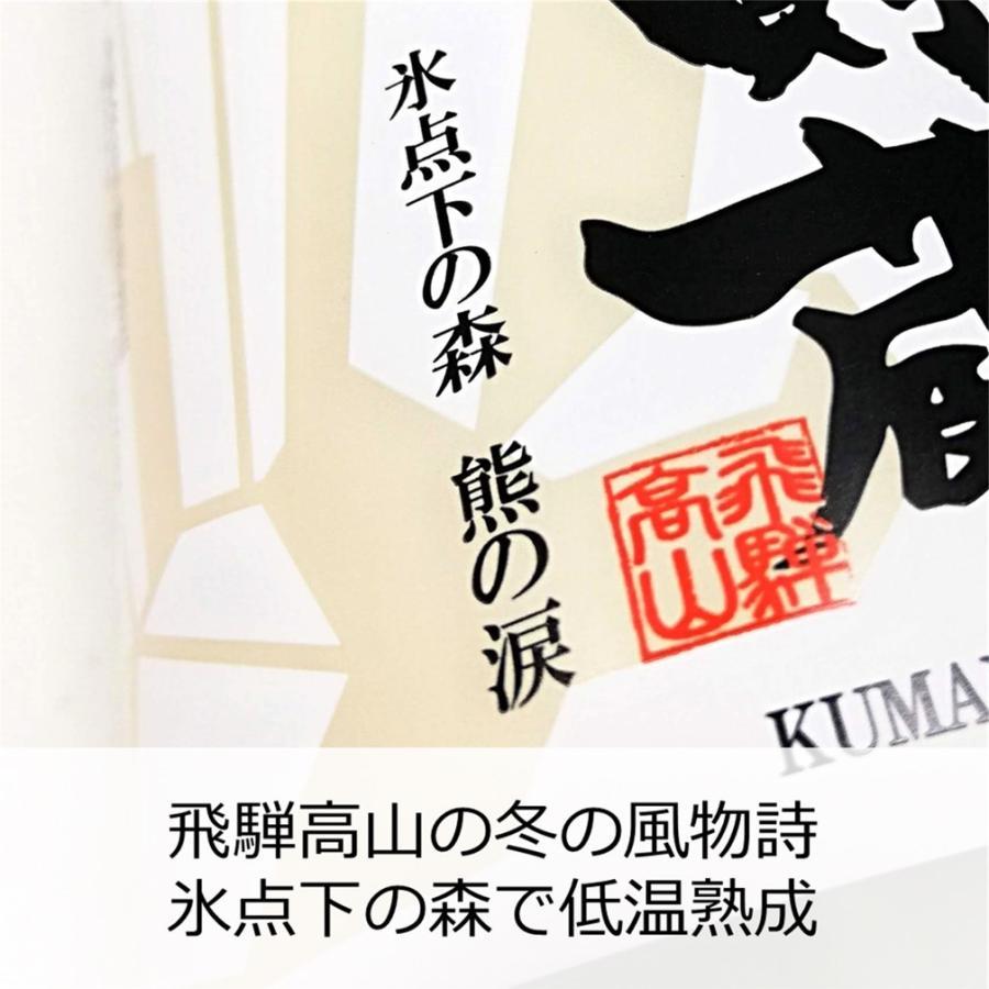 記念日 プレゼント お祝 土産 進物 限定720本 純米大吟醸生詰 氷中貯蔵熊の涙 化粧箱付き 花酵母 2021年春樽出|kumanonamida|06