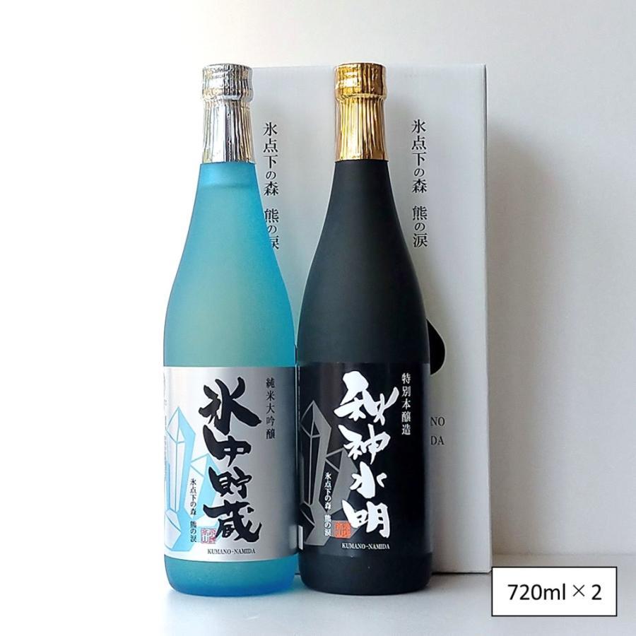 日本酒 青熊×黒熊 熊の涙飲み比べセット 記念日 誕生日 プレゼント 手土産 2本セット 限定ギフト 化粧箱付 2021年版|kumanonamida