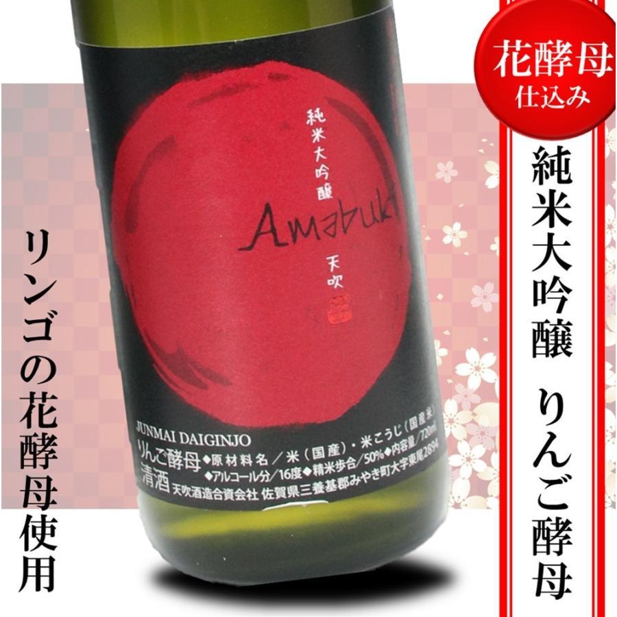 日本酒 辛口 天吹 純米大吟醸 りんご酵母 誕生日 夫婦 記念日 転職 720ml|kumanonamida