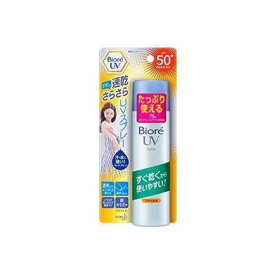 花王 ビオレ UV 速乾さらさらスプレー 75g SPF50+ PA++++- 定形外送料無料 - kumokumo-square