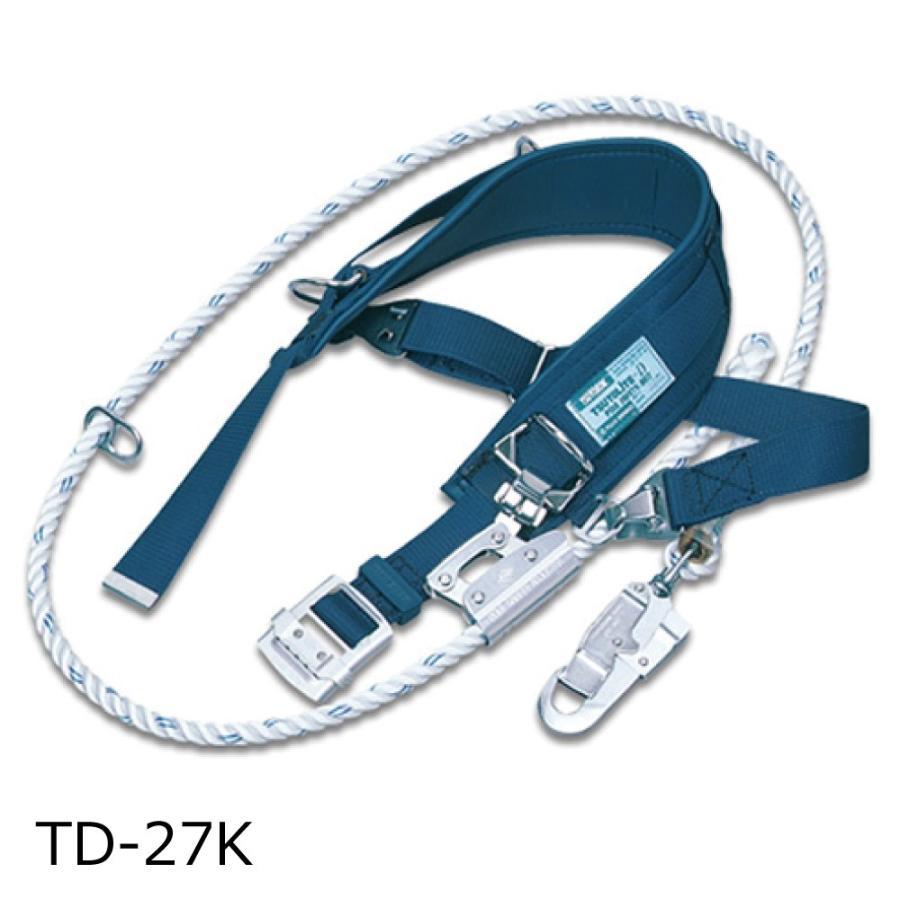 【廃番】藤井電工 ツヨロン ツヨロン ツヨロン 柱上安全帯 ストレートタイプ (D環2個・V角環1個) TD-27K c28