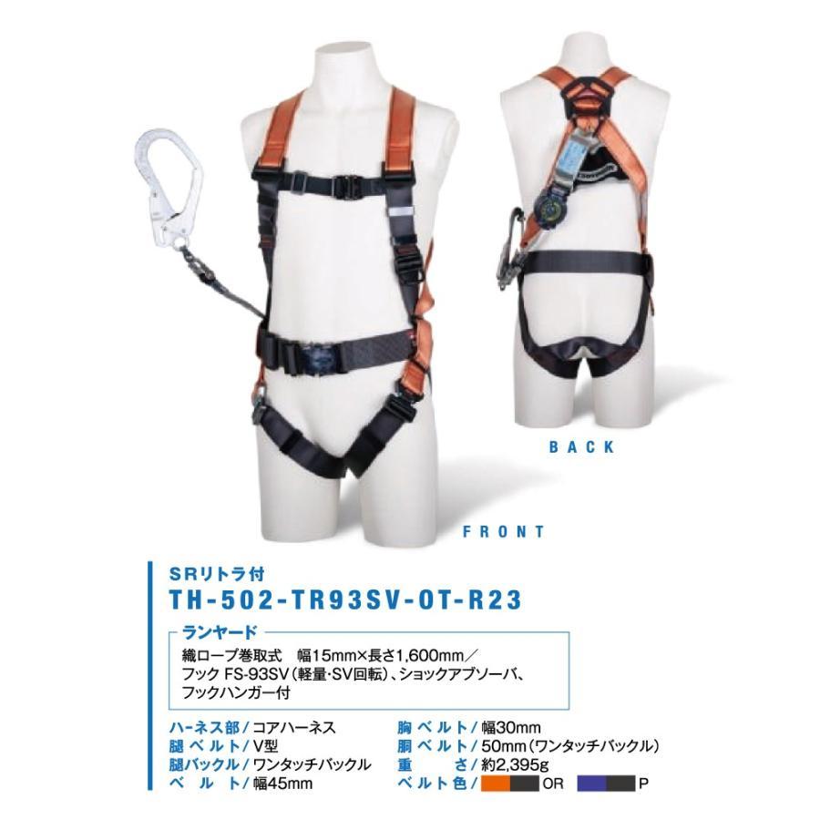 藤井電工 ツヨロン コアハーネス TH-502-GB99-OT-S-R26-P Sサイズ (新規格対応:第1種/タイプ1) ※予約商品