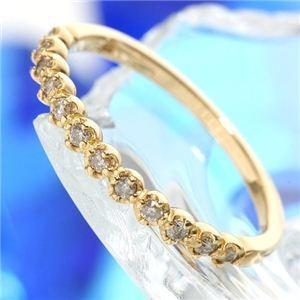 【ギフ_包装】 K18 ダイヤリング 指輪 エタニティリング 15号, マイセン 9b57cf5d
