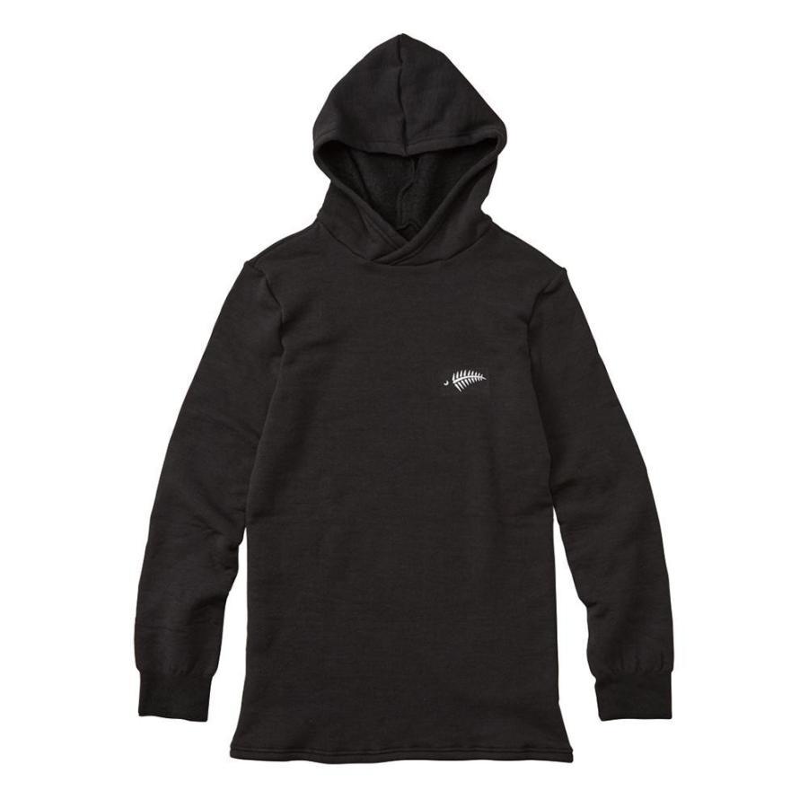 送料無料 FREE KNOT フリーノット LAYER TECH フーデッドアンダーシャツ プラス ブラック(90) Lサイズ Y1662-L-90