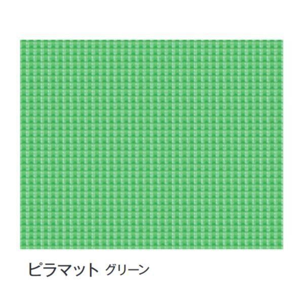 送料無料 代引き・同梱不可 富双合成 ビニールマット(置き敷き専用) 約92cm幅×20m巻 ピラマット(グリーン)