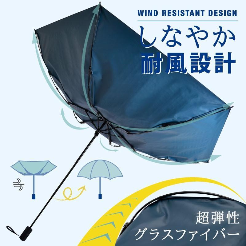 日傘 折りたたみ傘 solshade メンズ 晴雨兼用 完全遮光 超軽量 おしゃれ UVカット 100% 遮光 遮熱 折りたたみ 傘 コンパクト 丈夫 耐風 男性用 ネイビー kurashikan 05
