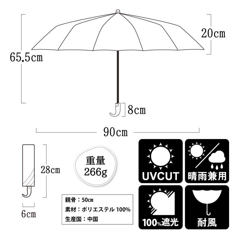 日傘 uvカット 100%完全遮光 折りたたみ 晴雨兼用 10本骨傘 軽量 コンパクト 4段伸縮 母の日 UPF50+ UVカット 暑さ対策 熱中症対策 紫外線カット ソルシェード|kurashikan|20