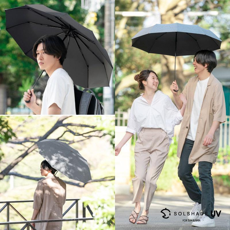 日傘 uvカット 100%完全遮光 折りたたみ 晴雨兼用 10本骨傘 軽量 コンパクト 4段伸縮 母の日 UPF50+ UVカット 暑さ対策 熱中症対策 紫外線カット ソルシェード|kurashikan|04