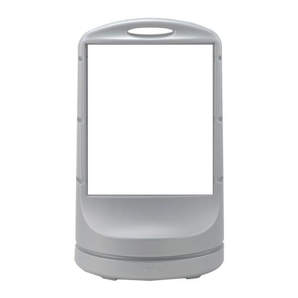 スタンドサイン(給水型) ワイドタイプ 無地 シルバー RSS80-51