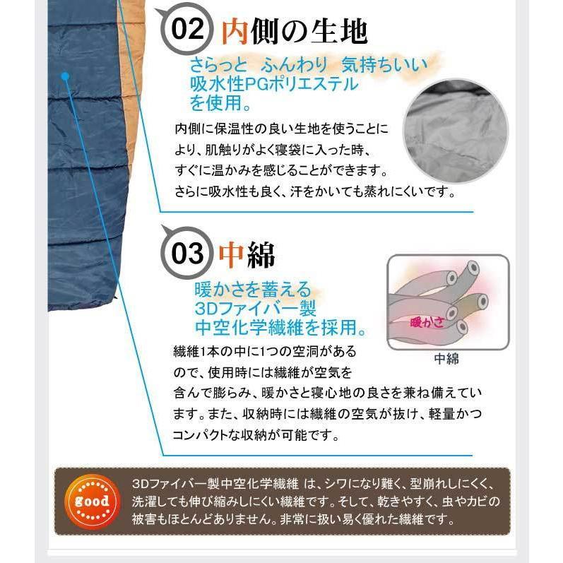 寝袋 冬用 車中泊 -32度 マミー型 ふっくら包み込まれる暖かさ 洗える ふわ暖 Bears Rock シュラフ キャンプ アウトドア 4シーズン 防災 FX-402D -32℃ kurayashiki 05
