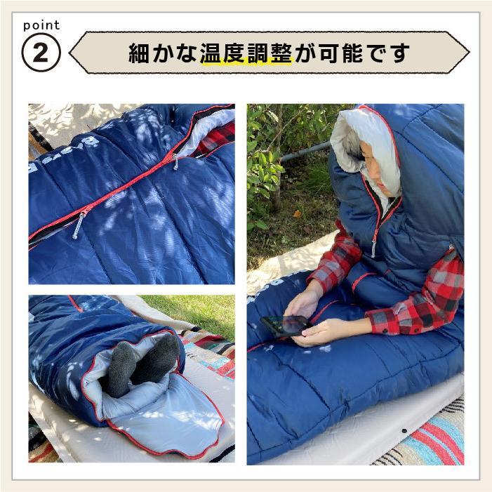 寝袋 冬用 車中泊 -15度 マミー型 ふっくらと包み込まれる暖かさ 洗える Bears Rock センタージップ シュラフ キャンプ コンパクト 4シーズン FX-451G -15℃|kurayashiki|05