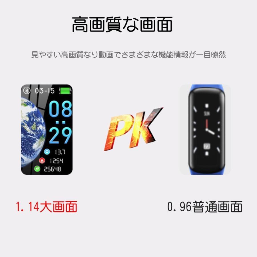 スマートウォッチ 日本語 iphone 対応 2019モデル最新 android 血圧 レディース メンズ 防水LINE対応 腕時計 スポーツ 時計|kuri-store|04