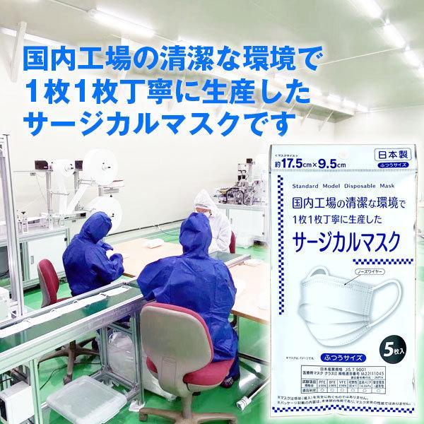 日本製 サージカルマスク 大人用 5枚入×20個 合計100枚 ケース売り 不織布マスク 1個110円 1枚22円|kuriten|03