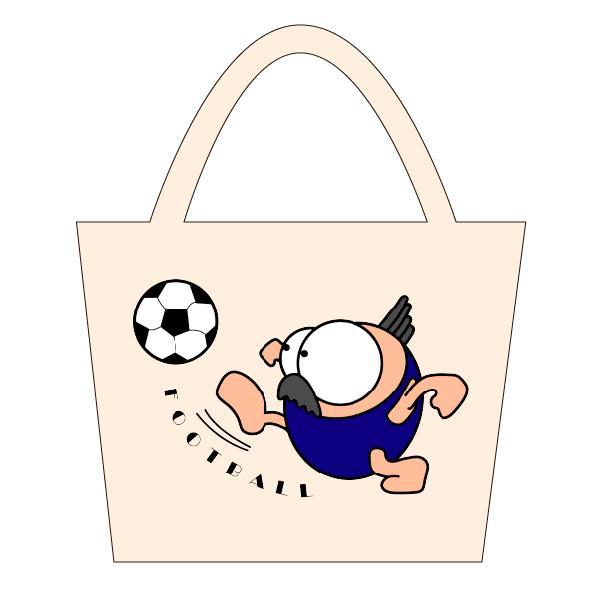 サッカー トートバックS マリオッチオリジナルイラスト kuriten 02